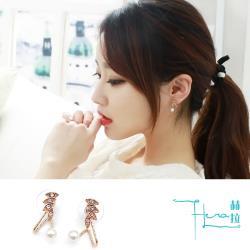 Hera 赫拉 時尚精美鑲鑽珍珠耳釘耳骨夾