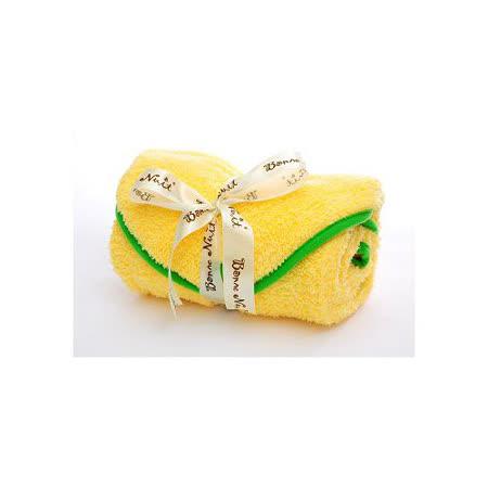 Bonne Nuit Baby 雪柔綿包巾(0/3yrs) 75×75cm 黃/綠色