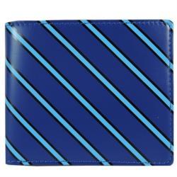agnes b. 斜紋兩折短夾  藍