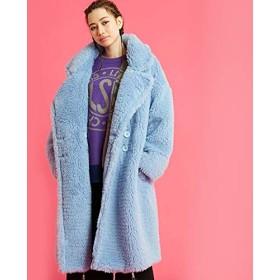 little sunny bite リトルサニーバイト boa big coat ボアビッグコート lsb-ljk-105m BLUE(ブルー) FREE