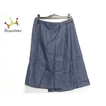 ダックス DAKS 巻きスカート サイズ64-91 レディース 美品 ネイビー デニム 新着 20200331