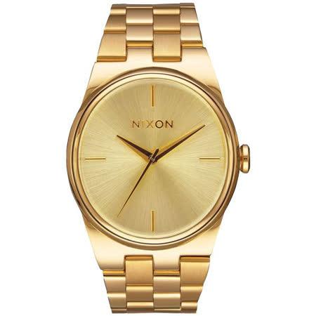 NIXON IDOL 唯美星河轉念時尚腕錶-金-A953502