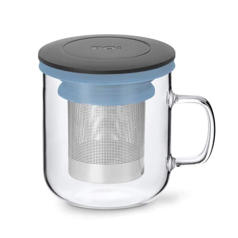 泡茶玻璃杯350ml 2.0 (黑+藍)