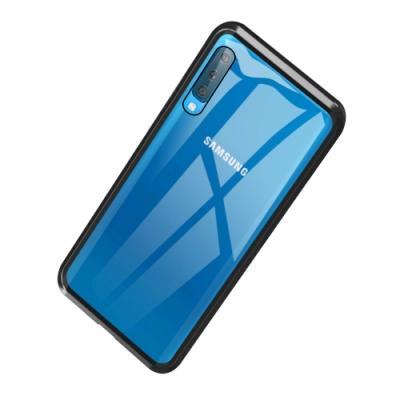 三星 Galaxy A50 金屬磁吸雙面全包鋼化玻璃手機殼