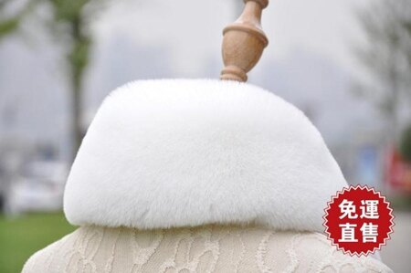 毛領子仿狐貍毛獺兔毛柔軟超密黑色白色大衣領圓領皮衣方領單買 娜娜小屋 清涼一夏特價