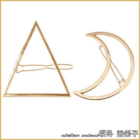 『Akiko Sakai亞希子』日本原宿金屬鏤空造型髮夾邊夾