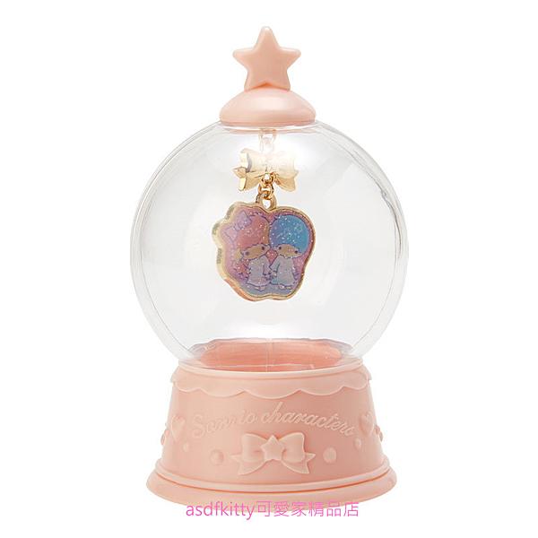 asdfkitty可愛家☆雙子星項鍊+雪球造型收納盒-日本正版商品