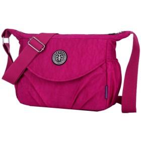 ナイロン因果ショルダーバッグ軽量ショルダーバッグママバッグ財布 (Color : Grape purple, Size : 261021cm)