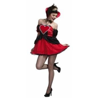 メール便 送料無料 ハロウィン コスプレ 仮装 大人 コスチューム レディース ハートクイーンガール 衣装 イベント 宴会
