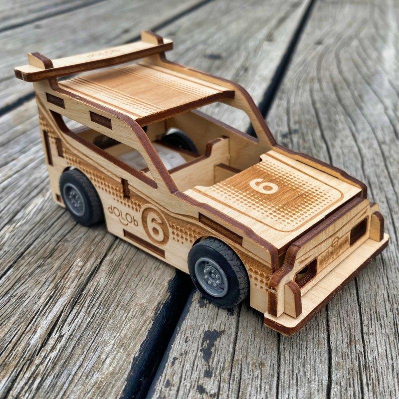 聖誕禮物 交換禮物 dOLOb-迴力車-甲龍-DIY木質