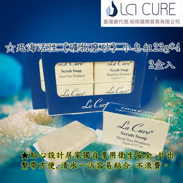 死海活性礦物磨砂皂(小皂22g/一組4個二組入)Scrub Soap