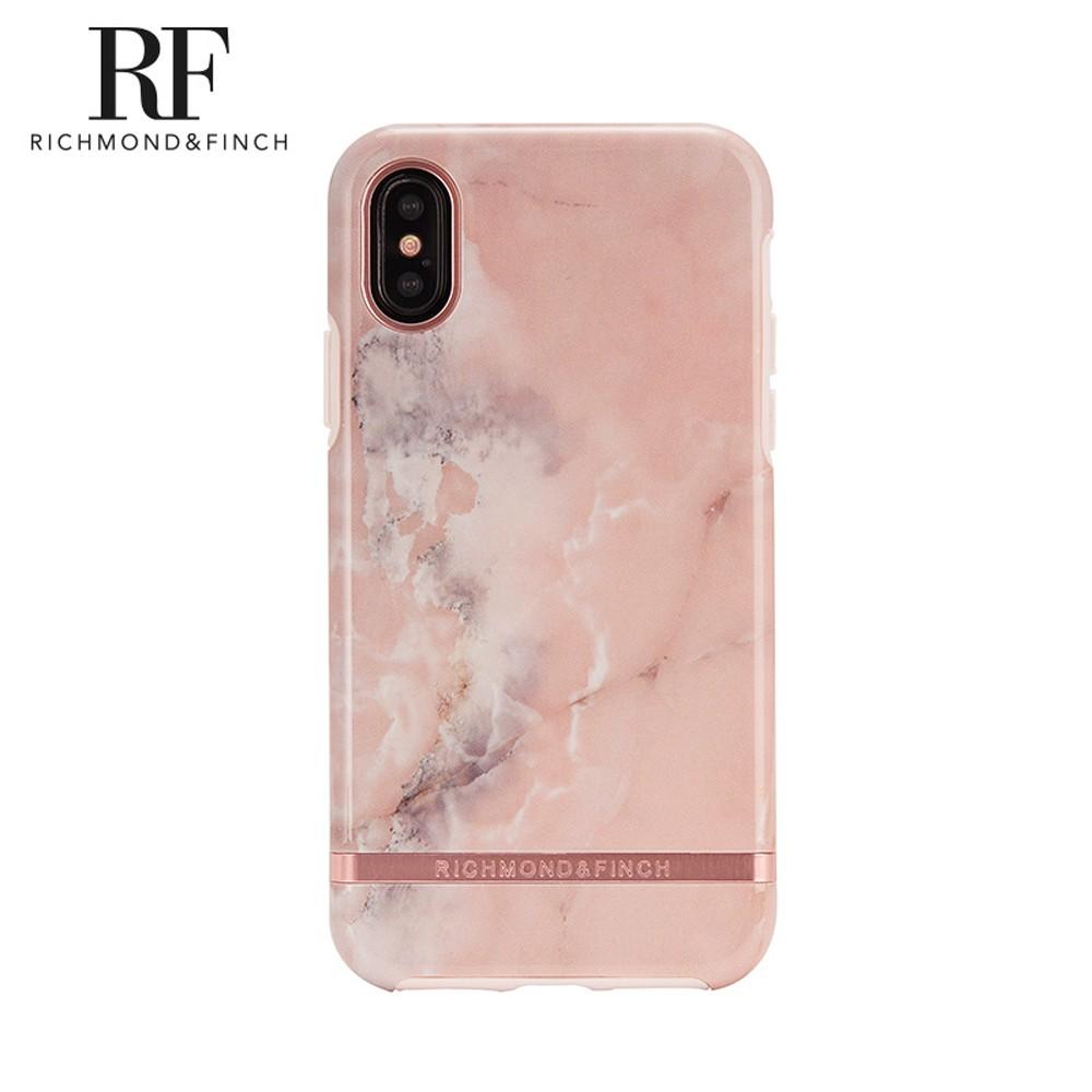 Richmond&Finch RF瑞典手機保護殼-粉紅理石 iPhone X/XS/XR/Xs Max系列