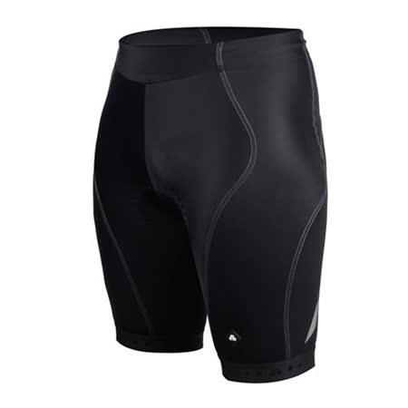 (男) SOGK 鐵人三項專用短褲-慢跑 路跑 單車 自行車 三鐵褲 反光 透氣  黑