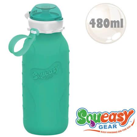 美國品牌QQ隨身瓶-480ML-水藍(兒童使用)