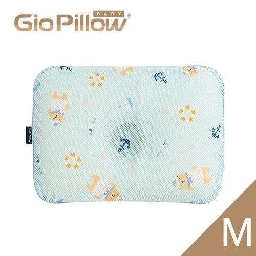 韓國GIO Pillow 超透氣護頭型嬰兒枕頭【單枕套組-M號】水手熊藍M★愛兒麗婦幼用品★