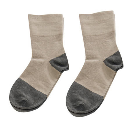【KEROPPA】可諾帕竹炭無痕寬口襪x2雙(女襪)C90004-卡其