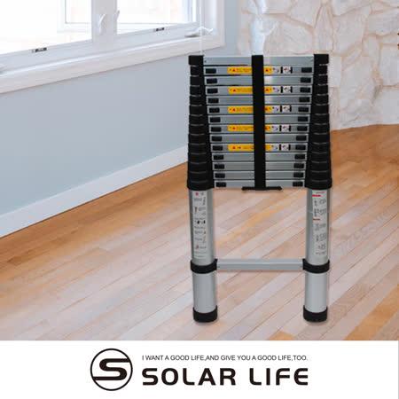 多功能全鋁合金伸縮萬用一字折疊工作梯4.4m.鋁梯伸縮梯爬梯折疊梯居家工程用加厚粗管便攜收納子非人字梯A字梯