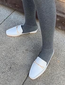 韓國空運 - Mud soft buckle bloafer_M 平底鞋