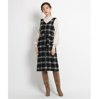 AG by aquagirl(エージー バイ アクアガール) チェック柄シャギージャンパースカート