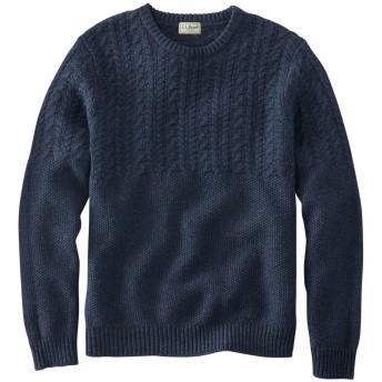ウォッシャブル・ラムウール・セーター、ミックス・ステッチ・クルーネック/Washable Lambswool Sweater, Mixed Stitch Crewneck