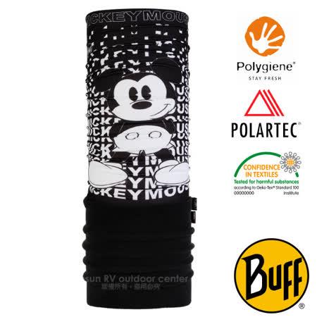 【西班牙 BUFF】迪士尼授權 兒童/青少年 POLARTEC 超彈性保暖魔術頭巾PLUS(吸溼排汗+抗菌除臭)可當圍巾_口罩_圍脖帽子_118306 黑白米奇