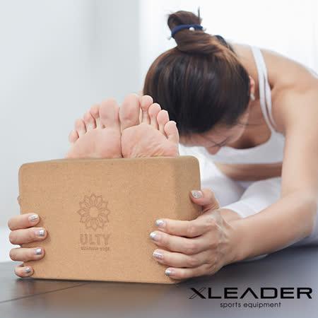 Leader X 環保軟木高密度抗壓瑜珈磚 加厚加重款9.5cm