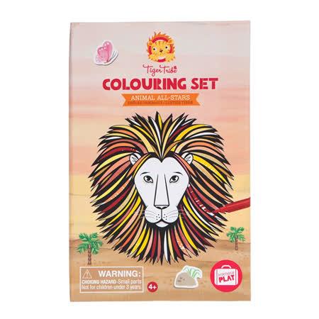 【澳洲 Tiger Tribe】旅行著色盒-獅王派對
