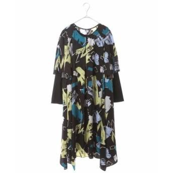 HIROKO BIS GRANDE ヒロコビス グランデ / 【洗濯機で洗える】デザインアートプリントドレス
