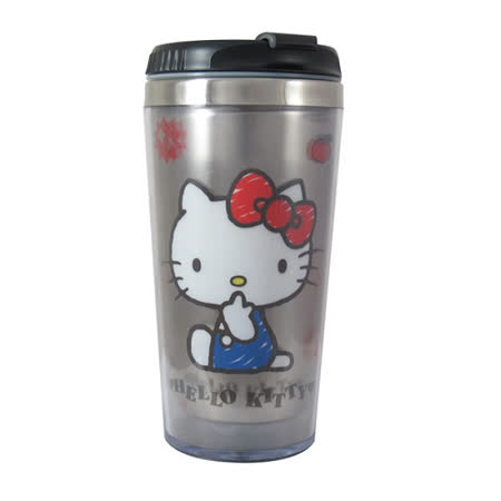 【Hello Kitty】不鏽鋼隨行杯(KS-8218W)