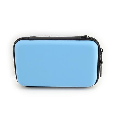 PUSH!3C相關用品3C隨身用品包移動電源硬碟保護套手機耳機包收納包(藍色中號一入)U45-2