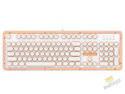 *硬派精璽* AZIO Retro Classic 頂級復古機械式鍵盤|白金色中文 000270000028