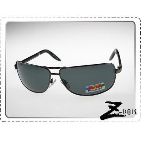 【視鼎Z-POLS代理全新設計頂級雷朋風格質感款】金屬帥氣流行復古頂級質感100%偏光搭皮革腳UV4太陽眼鏡