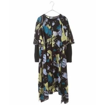 HIROKO BIS / ヒロコビス 【洗濯機で洗える】デザインアートプリントドレス