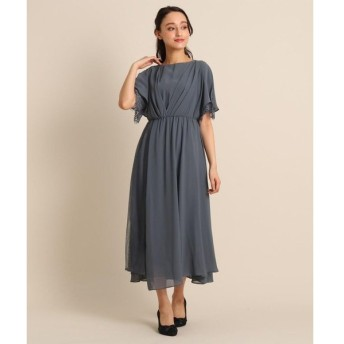 Bon mercerie / ボン メルスリー Luxe brille サイドレースジョーゼットロングドレス