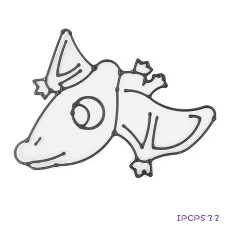 【愛玩色創意館】 兒童無毒彩繪玻璃貼- 小張圖卡 - 翼手龍 IPCPS32 -台灣製