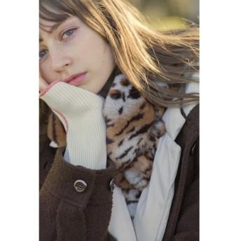 【ローズバッド/ROSEBUD】 アニマル柄フェイクファーティペット