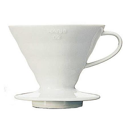 日本HARIO-V60白色02陶瓷咖啡濾杯1~4杯-VDC-02W