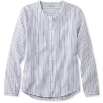 コットン・クリンクル・シャツ、ストライプ/Cotton Crinkle Shirt, Stripe