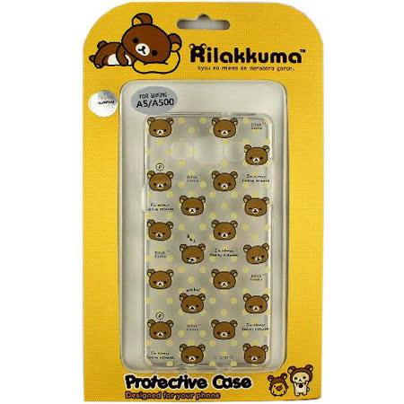 Rilakkuma 拉拉熊/懶懶熊 Samsung Galaxy A5 彩繪透明保護軟套-繽紛大頭熊