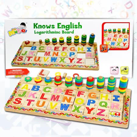 【funKids】兒童-木製ABC蒙氏配對學習認知組