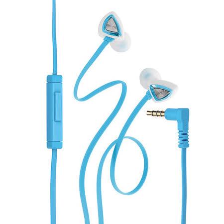 Genius HS-M250 抗噪耳道式手機專用耳機麥克風(藍)
