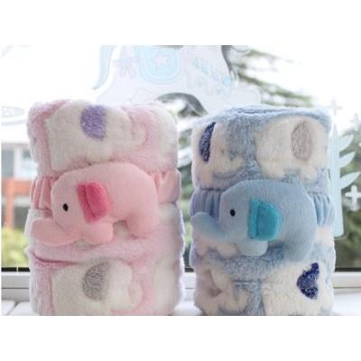【蜜雅兒童坊】超柔細珊瑚絨空調薄毯-紅/藍色(Miya shop)