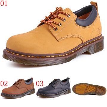 pathfinder口66410口英倫舒適4孔馬丁工裝男鞋PF復古潮流低幫圓頭休閒皮鞋JHS杰恆社