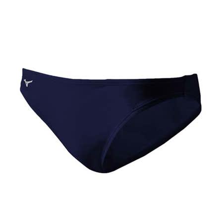 (男) MIZUNO BASIC三角泳褲-泳裝 戲水 美津濃 丈青白