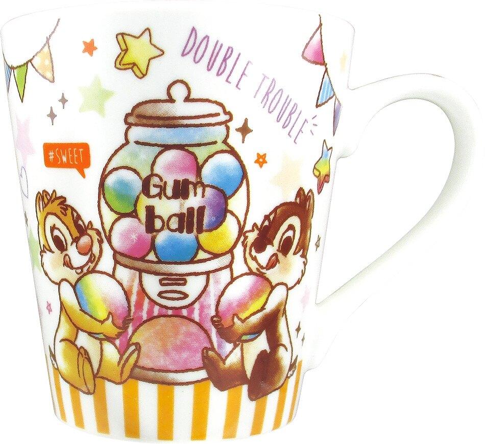 小禮堂 迪士尼 奇奇蒂蒂 陶瓷馬克杯《橘白.扭蛋機》茶杯.咖啡杯