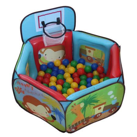 Willy Baby Home 防撞遊戲球池圍欄+籃球框 (附100顆球)