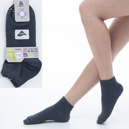 【KEROPPA】可諾帕舒適透氣減臭超短襪x深綠色兩雙(男女適用)C98005