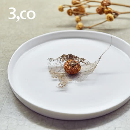 【3,co】水波系列圓形托盤(2號) - 白
