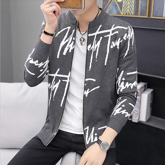 FOFU-針織外套休閒風修身夾克開衫針織外套【08B-F0714】