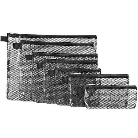 《TRAVELON》蜂巢紋收納袋(黑7入)